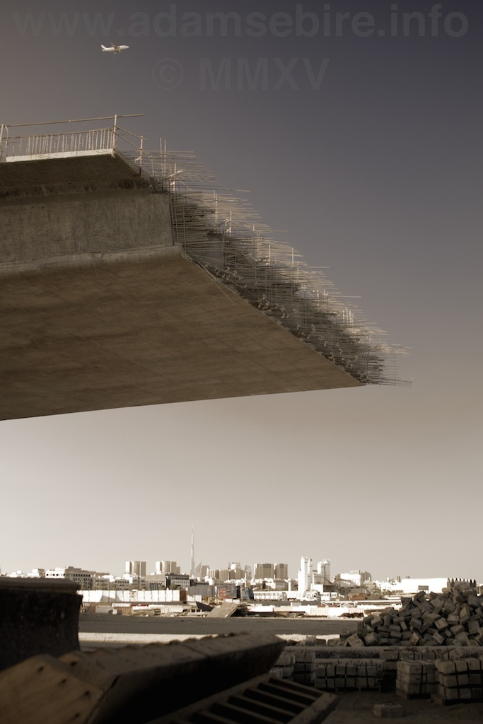 "Flyover Nº2 from the series ""Roads to Nowhere"" — Dubai and the global financial crisis (GFC)."