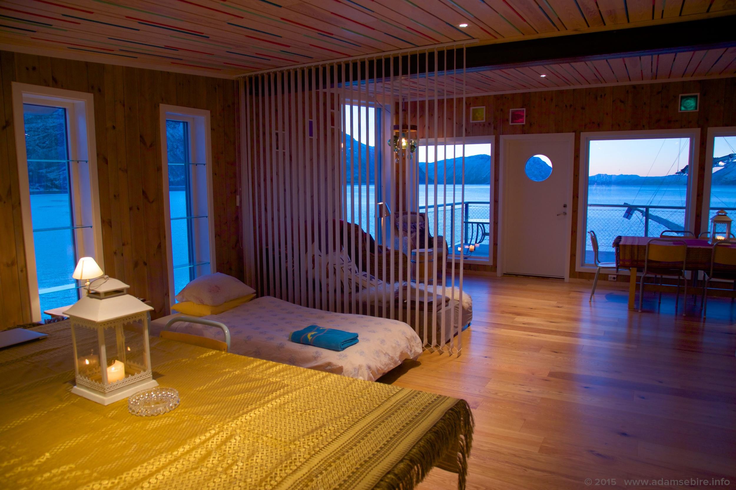 Airbnb interior photograph, Arctic Norway