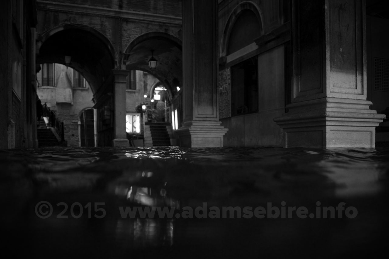 Venice disappears underwater during acqua alta (high tide flooding)