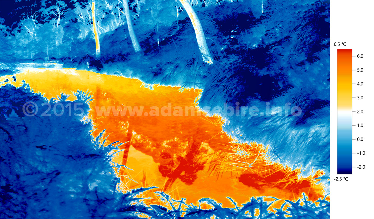 Infrared art on climate change