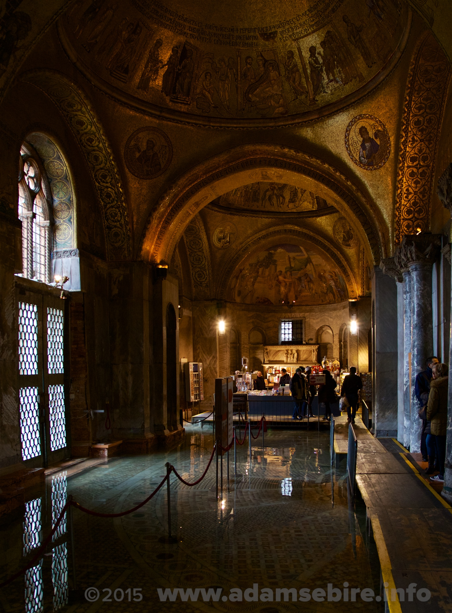 Venice's St Mark's Cathedral entrance floods at high tide