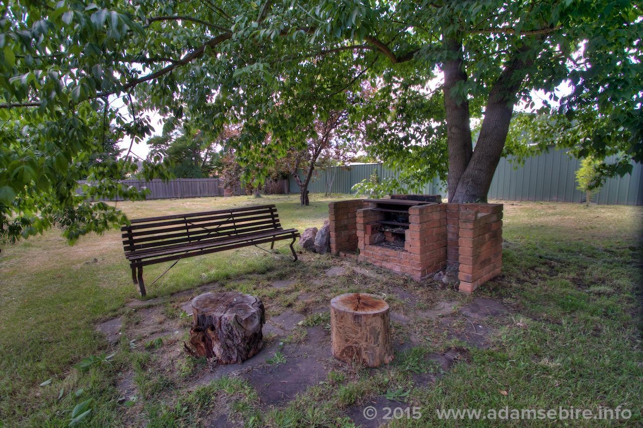 Backyard BBQ area
