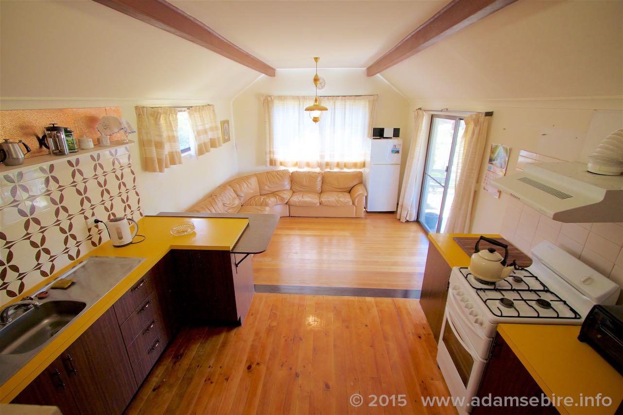 Split-level kitchen