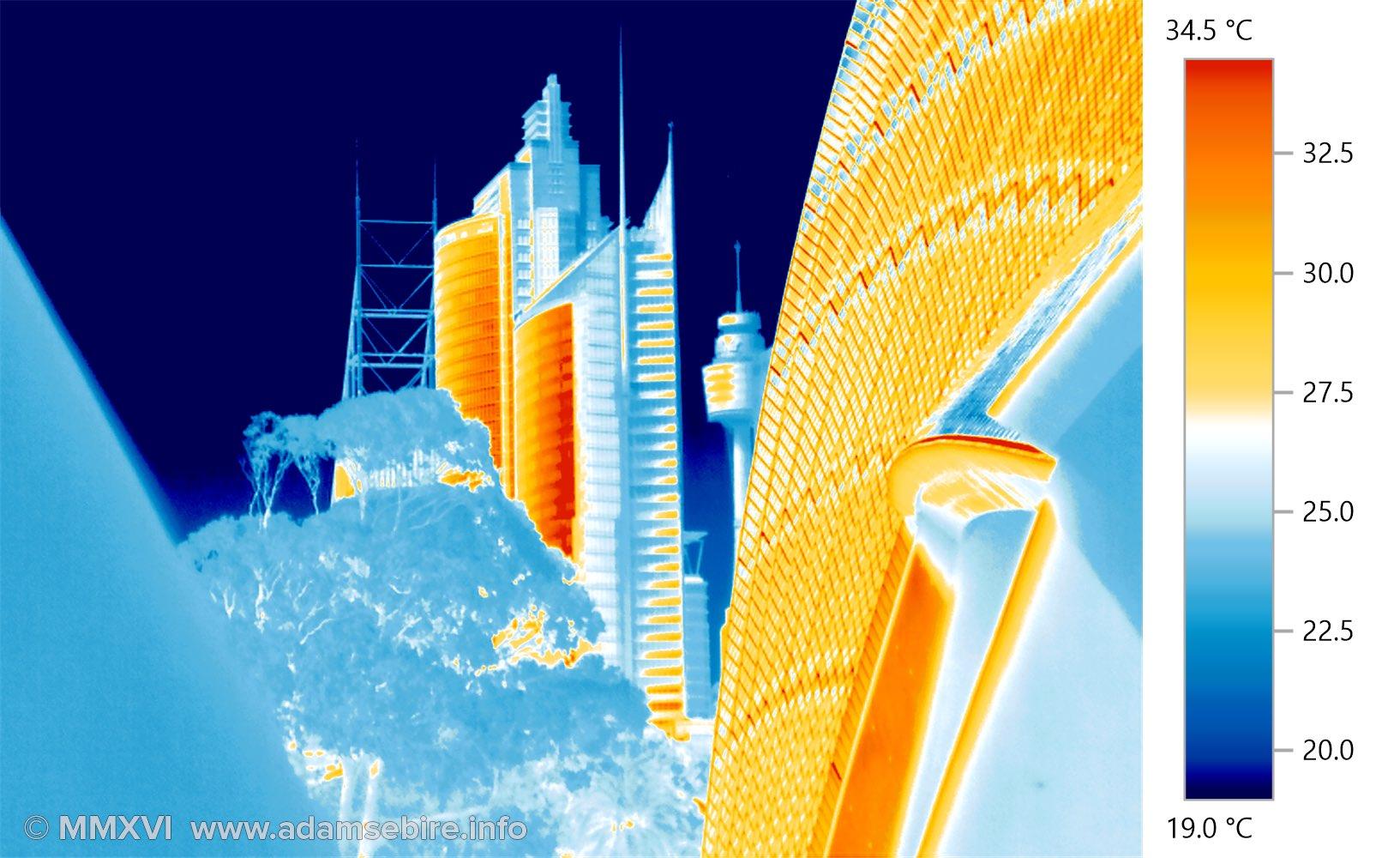 Thermographic image of Sydney city urban heat (IR001512)