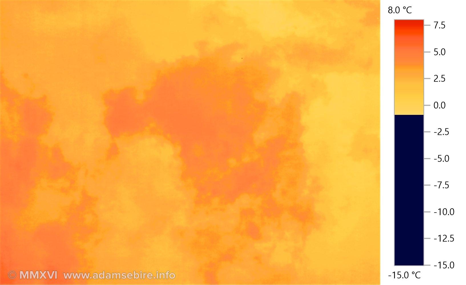Cloudscape — Australia  (thermographic image)