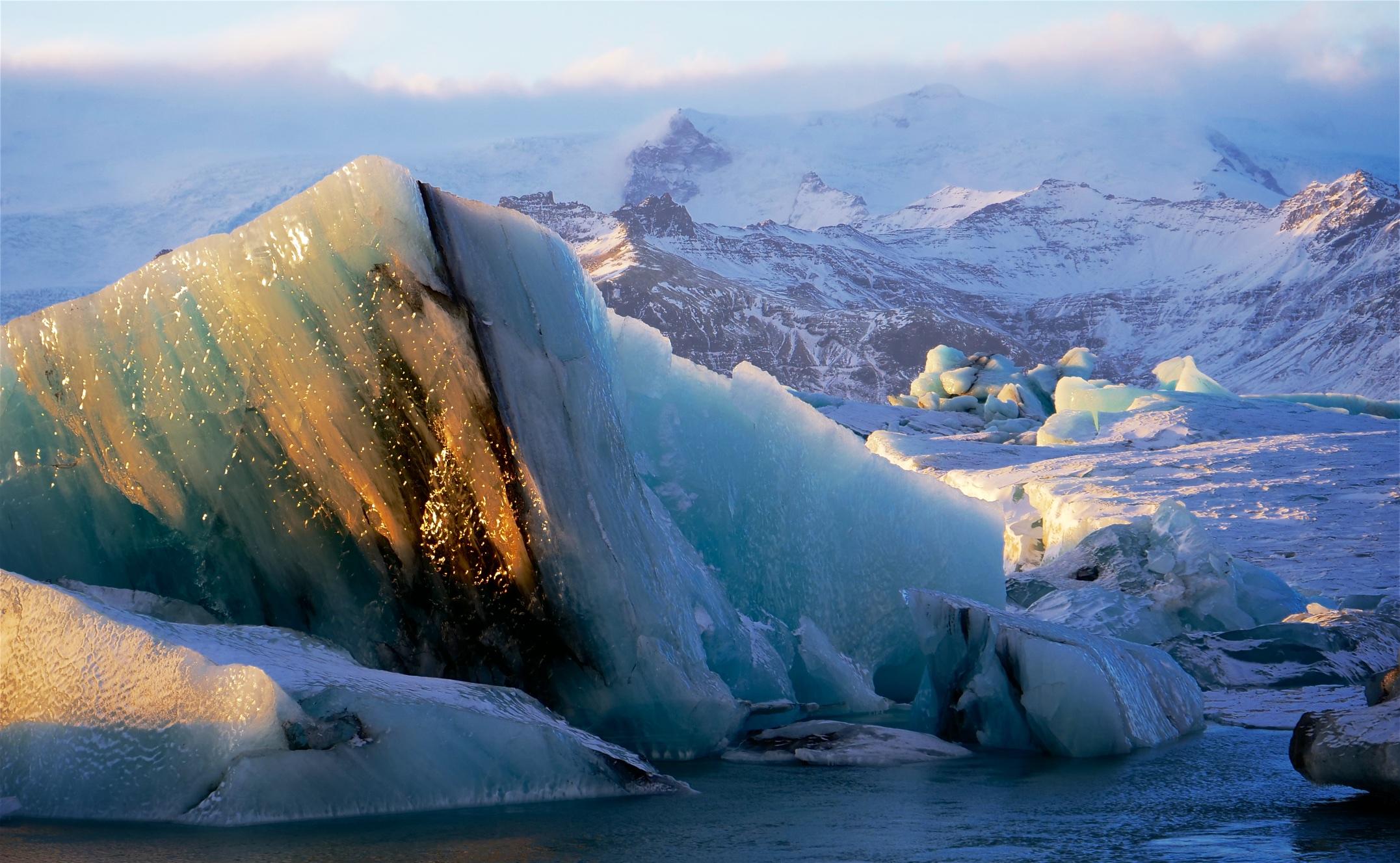 Retreating Vatnajökull glacier, Iceland
