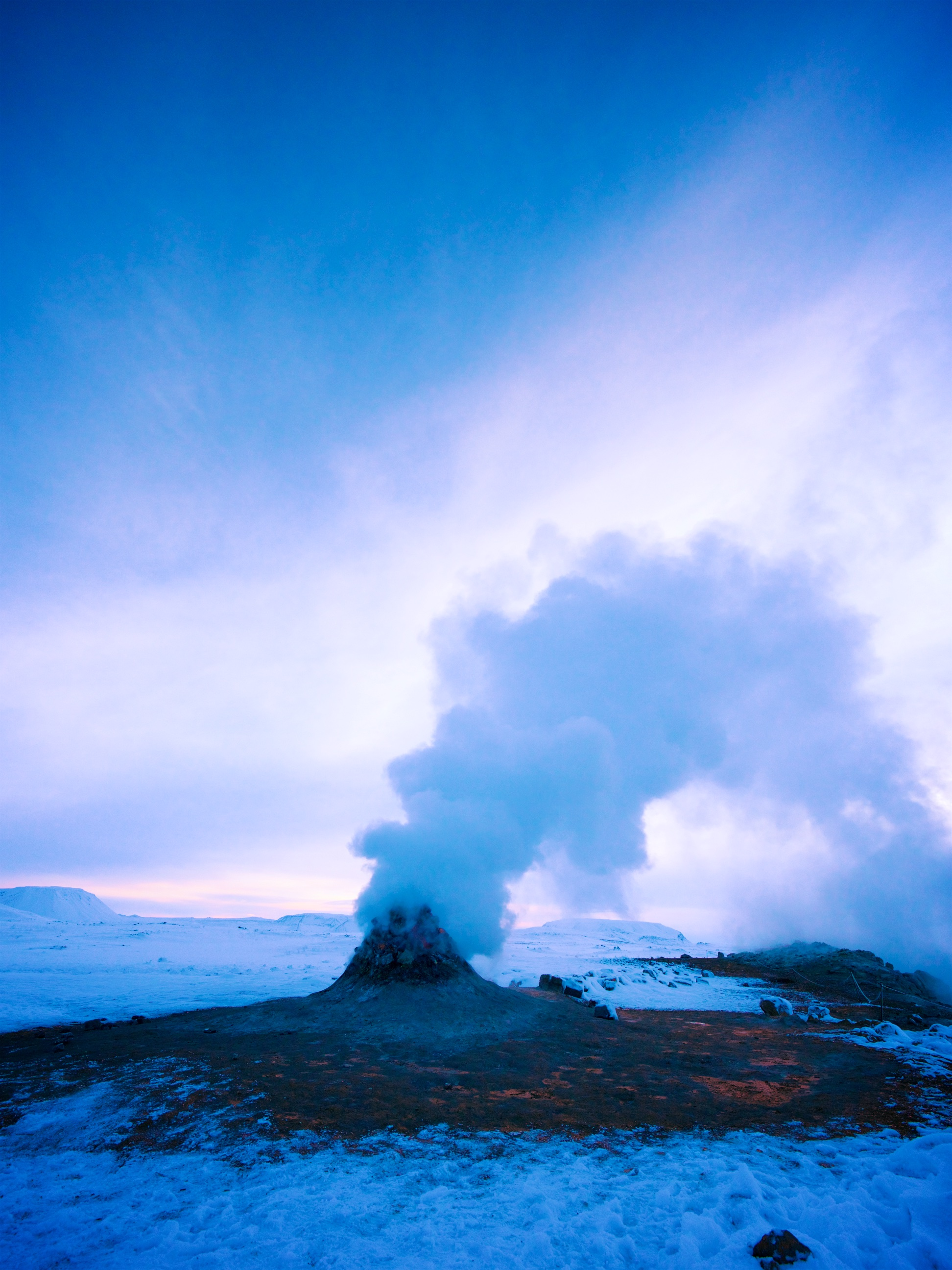 Fumarole, Iceland (non-anthropogenic GHG emissions)