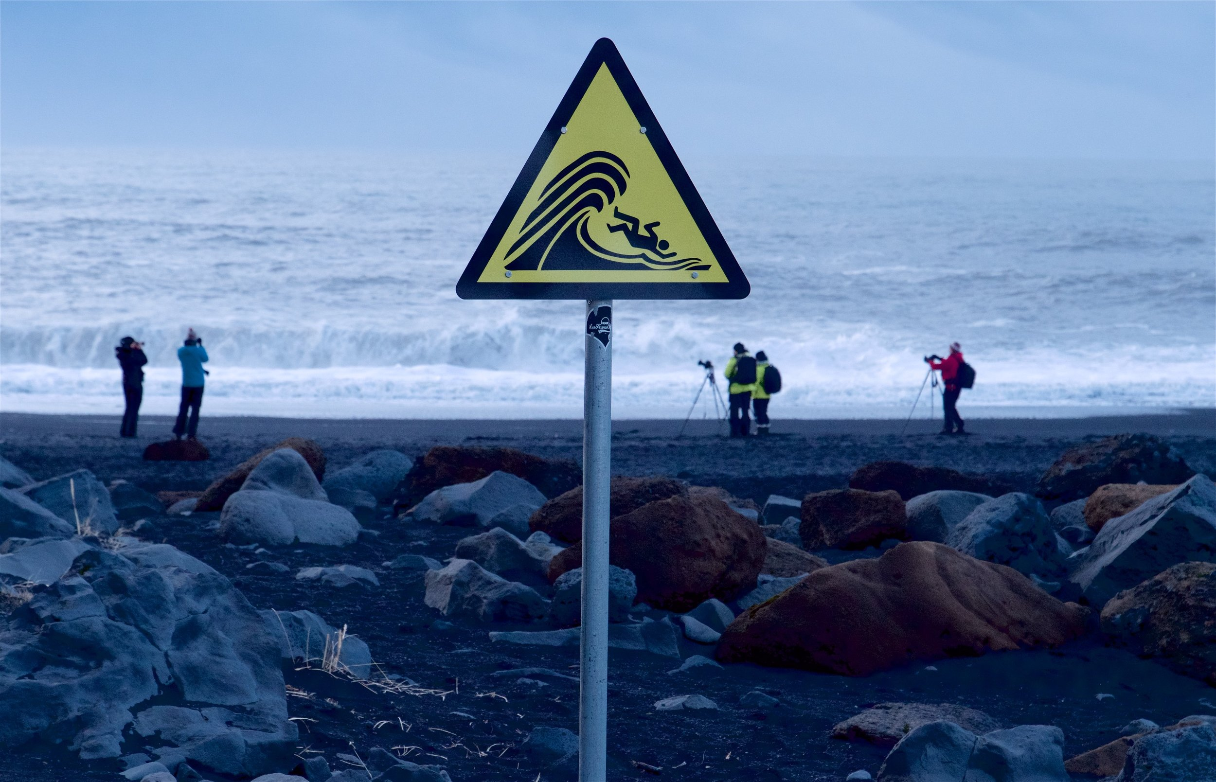 Warning sign, Iceland