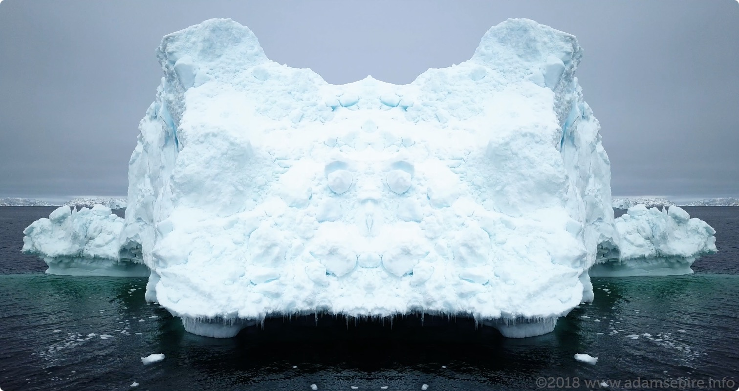 "Rorschach Icebergs & Islands series     Drawing on the famous psychological ""ink-blot test"", what might our responses to these inexorably disappearing forms tell us?"