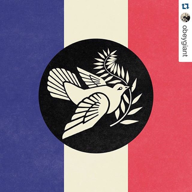 From California with Love #RPBLQ #peaceinParis #Repost Credit:| @obeygiant
