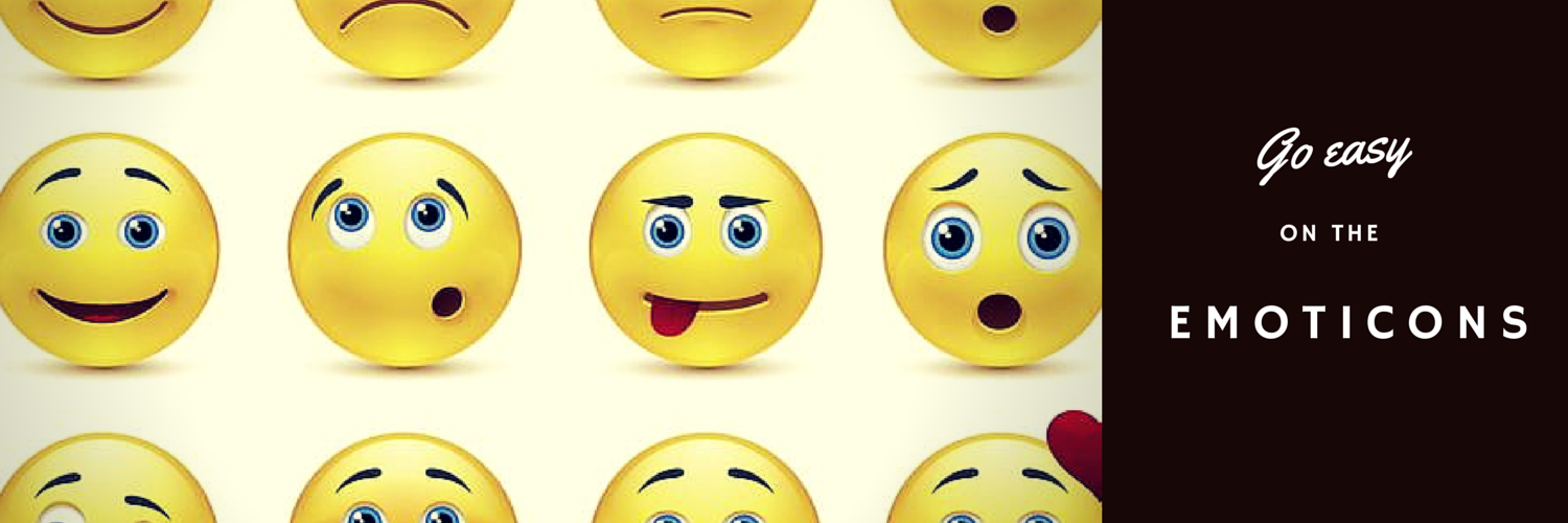 Go easy on the emoticons to make a good first impression
