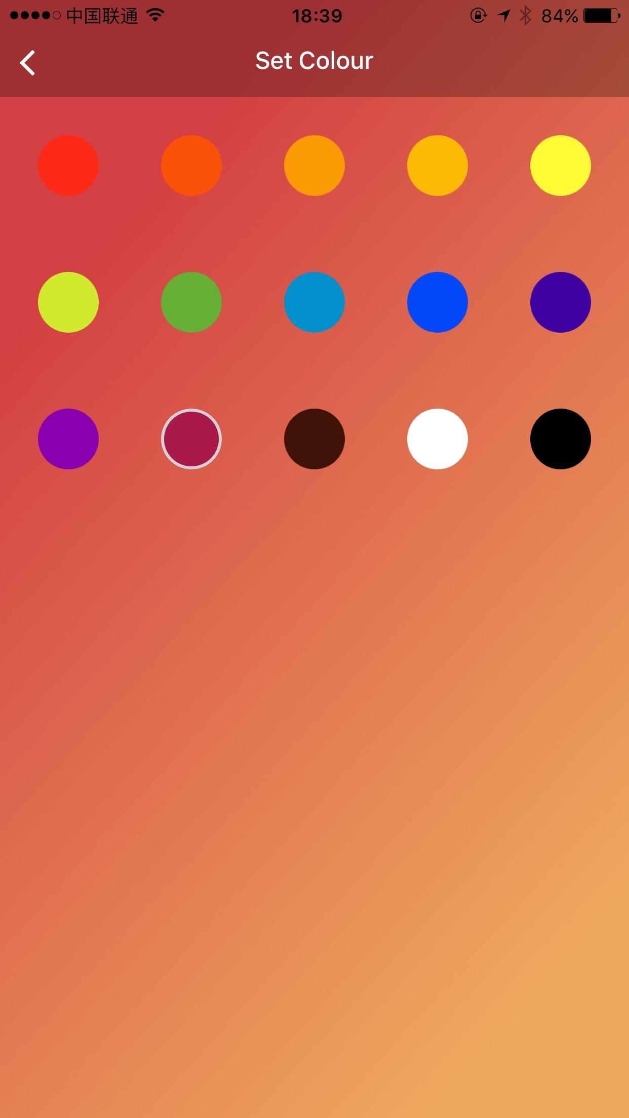 Font Colour Selection
