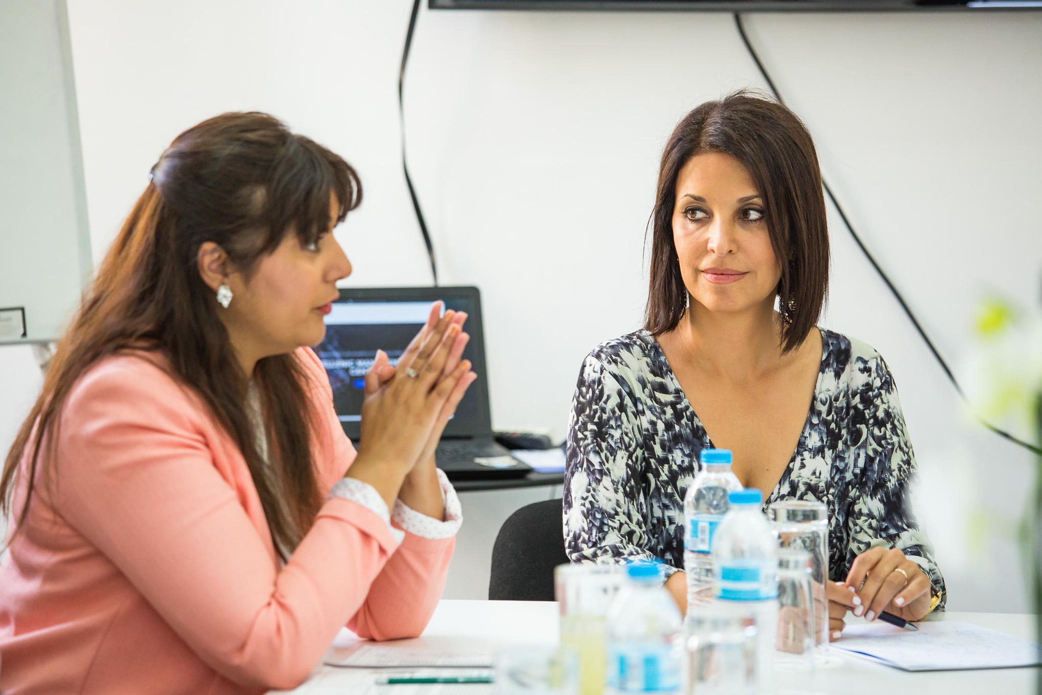 UK Maritime Minister, Nusrat Ghani MP and  Mrs Natalia Margioli  FICS, Managing Director ICS Greek Branch