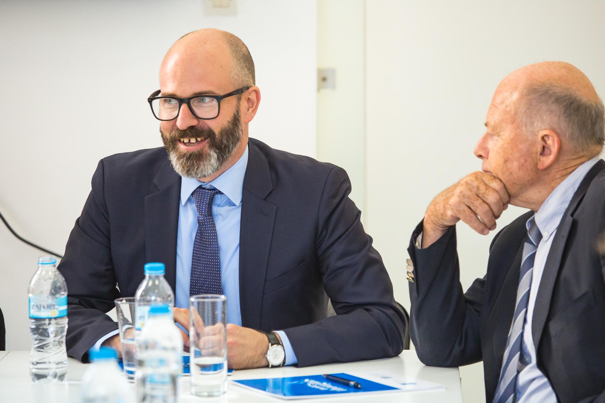 Mr  Simon Ward FICS  Director URSA S&P S.A. and  Mr Nicolas Tsavliris FICS  Chairman ICS Greek Branch