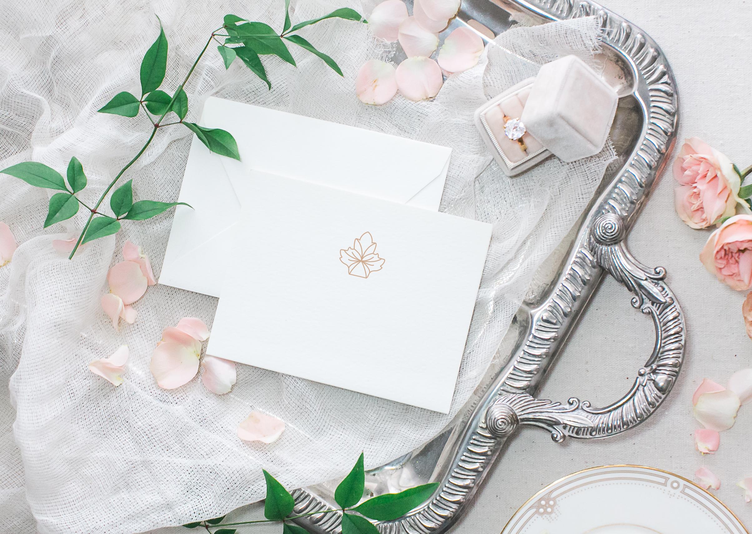 design for florists wedding artists by Crème Brands