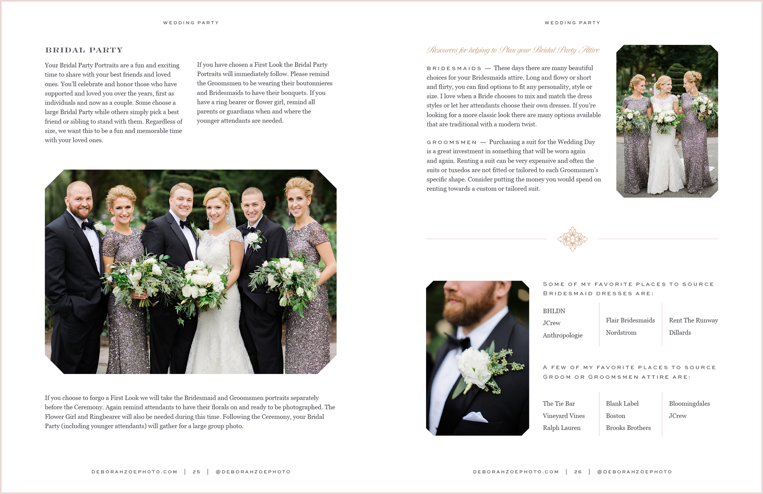 Spreads from her Wedding Guide magazine