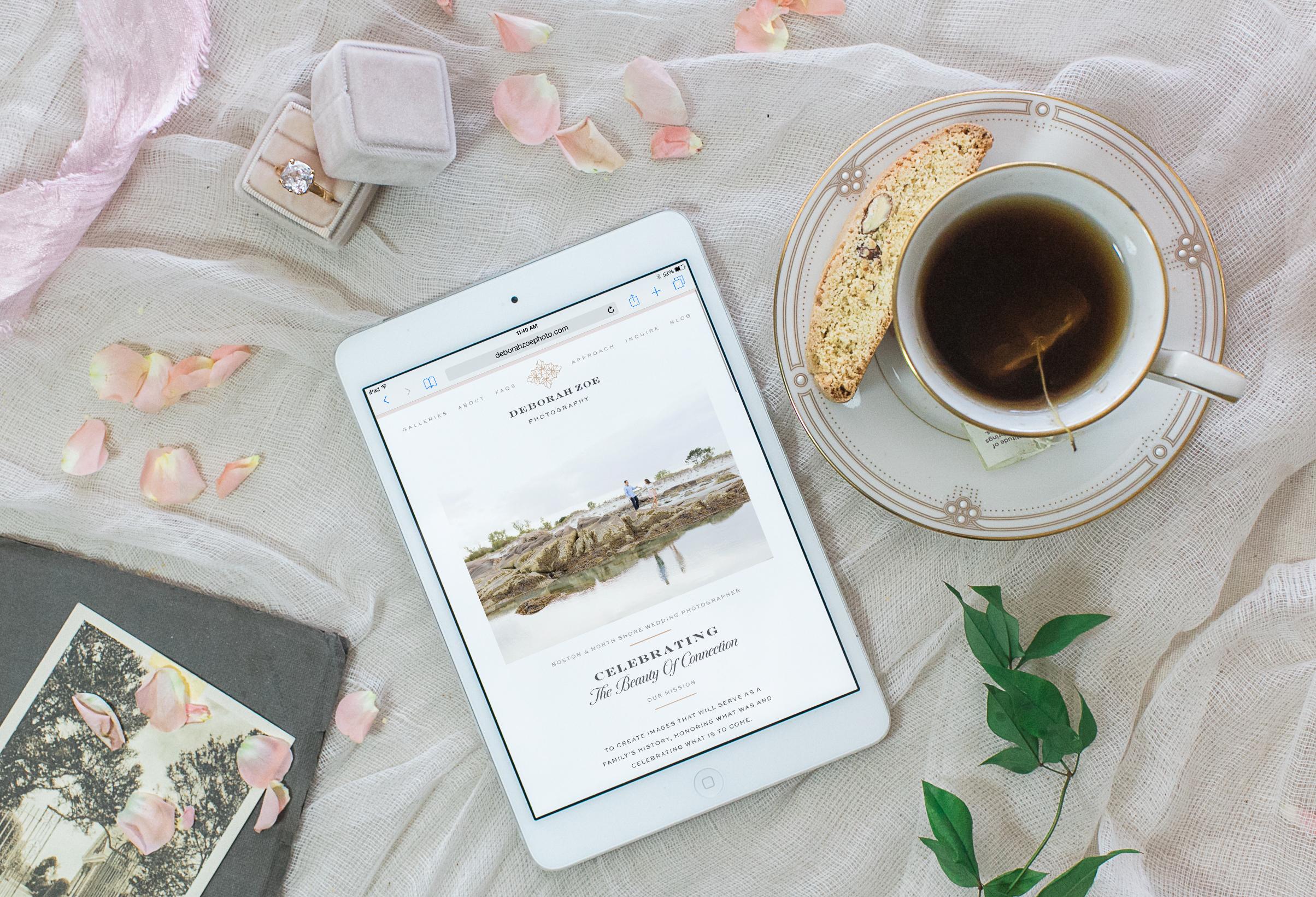 clean romantic feminine pretty graphic designer by Crème Brands