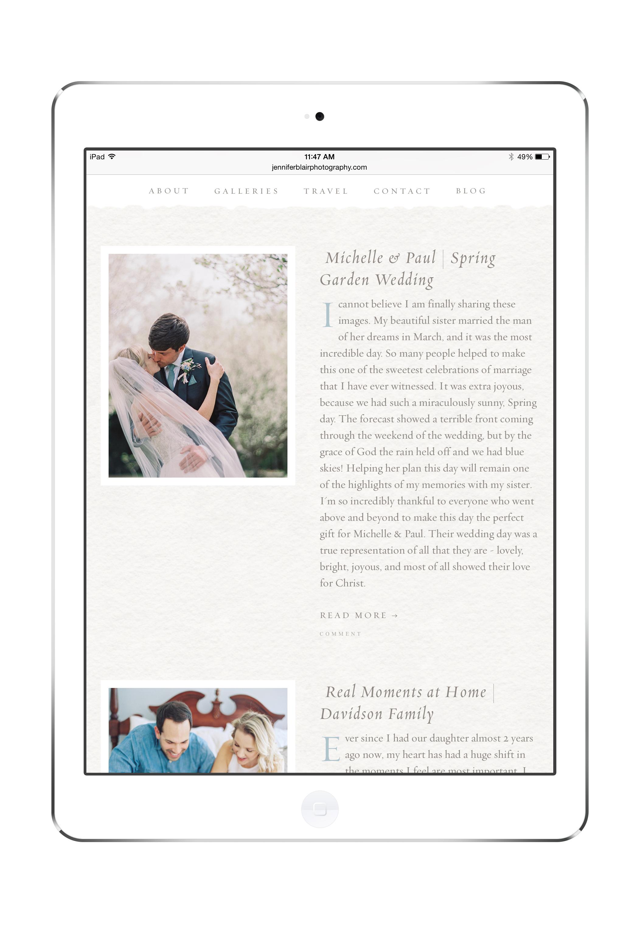 web design branding for wedding professionals by Crème Brands
