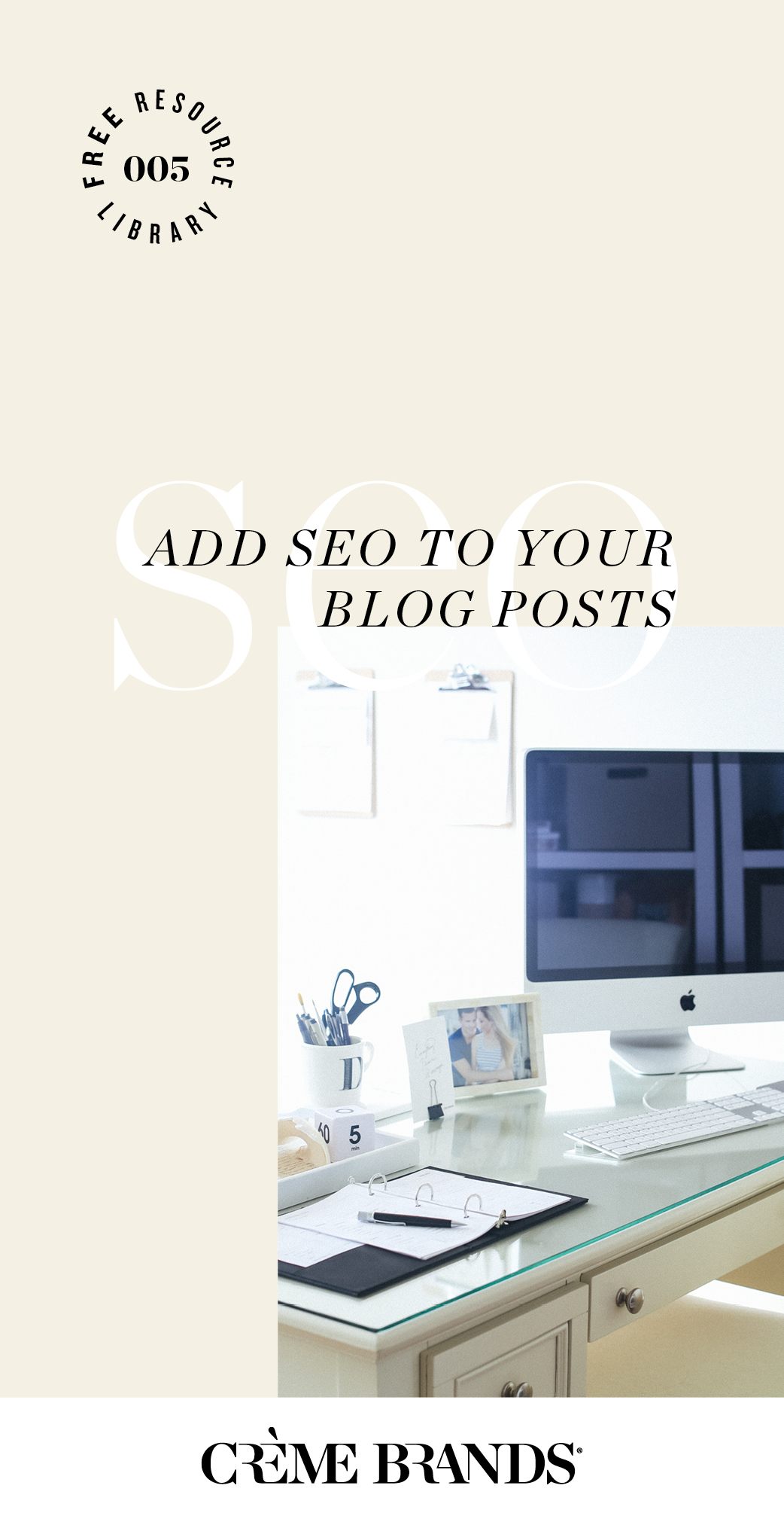 Exactly how to add SEO to your Squarespace blog posts to rank higher on google. Post by Creme Brands | Photo by Jennifer Blair