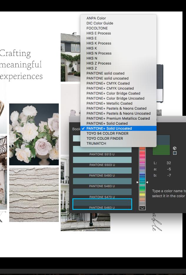 free training picking pantone colors brand design