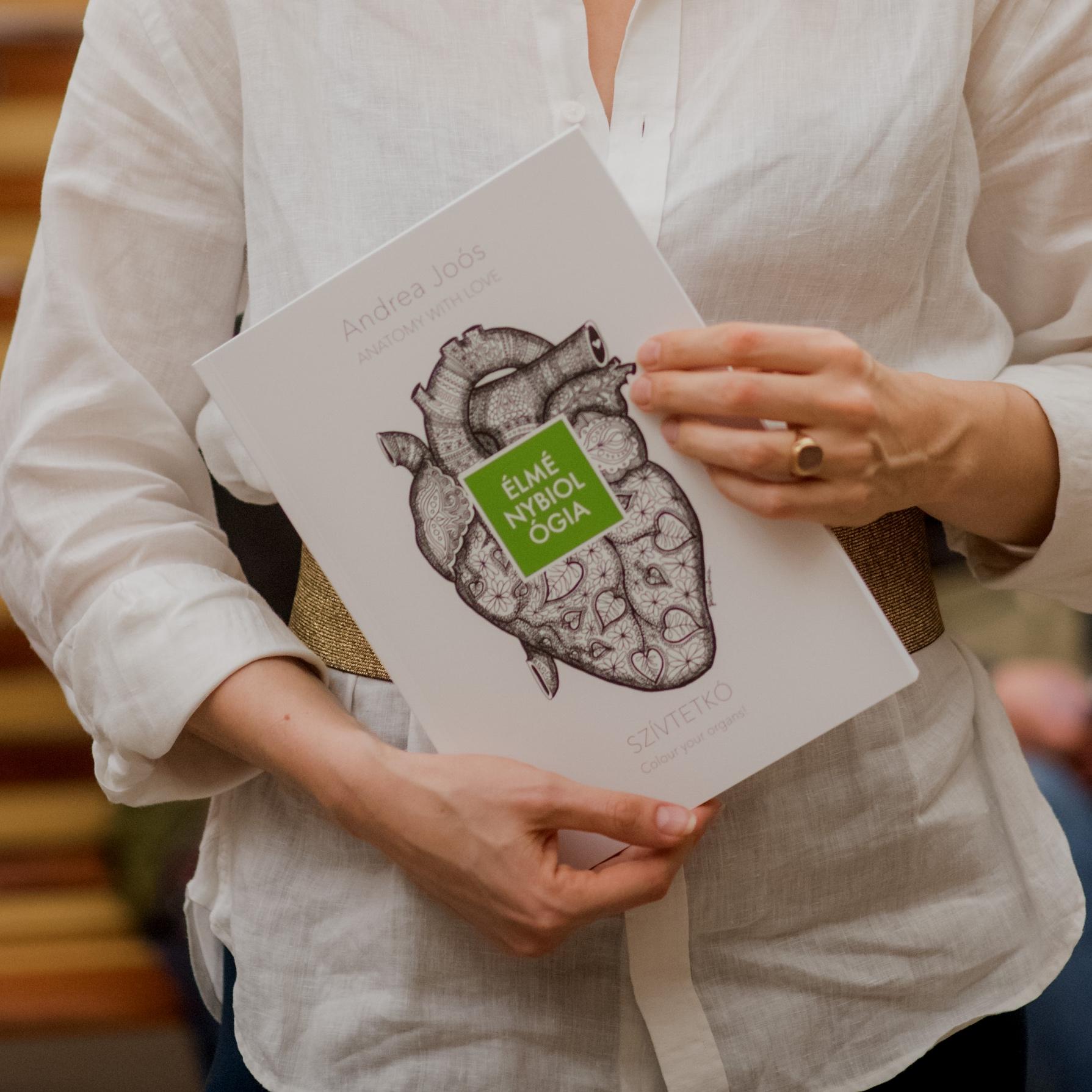 Szívtetkó szervszínező - Organmandala coloring book