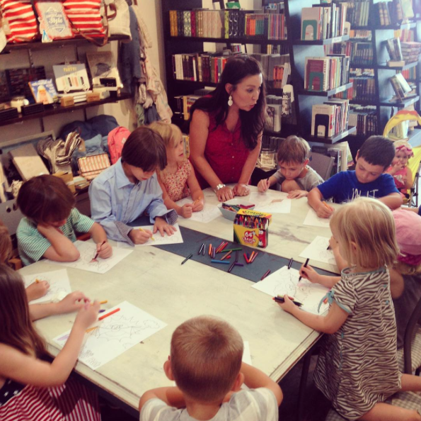PICTURE OF THE WEEK : Author and artist Danielle Jones stopped by the shop on Saturday to read her new children's book, Davy the Day Bat , as part of a special story time. We loved watching Danielle teach the kids how to draw and mix colors, and they seemed to love it, too.  This week on  From the Front Porch , I chatted with Chris about the books I read in June (spoiler alert: some really great non-fiction, and some just okay fiction).