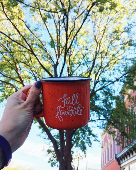 PICTURE OF THE WEEK: It's here! It's here! It's finally here! Fall weather is at last upon us, and we're celebrating with these new seasonally-appropriate mugs, designed by our friend Lindsay Hopkins of Pen & Paint, based out of nearby Albany, Georgia. The mugs are hefty and well-made, and just $15. Limited quantities available, so snag one today and get in the spirit of our favorite season!