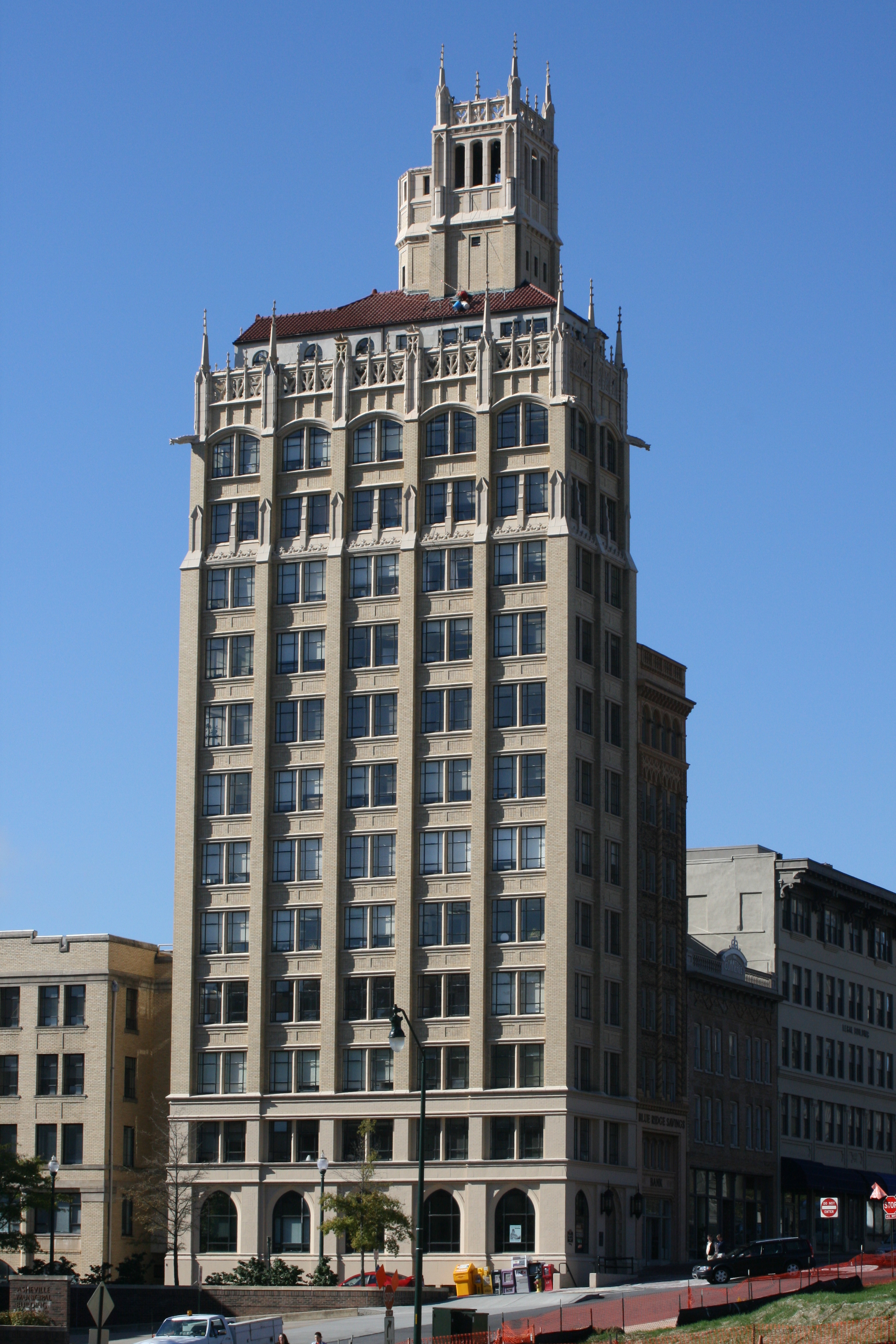Jackson Building - Asheville, NC - Built in 1924 - 15 Stories - Neo-Gothic Style - Commercial Office Use