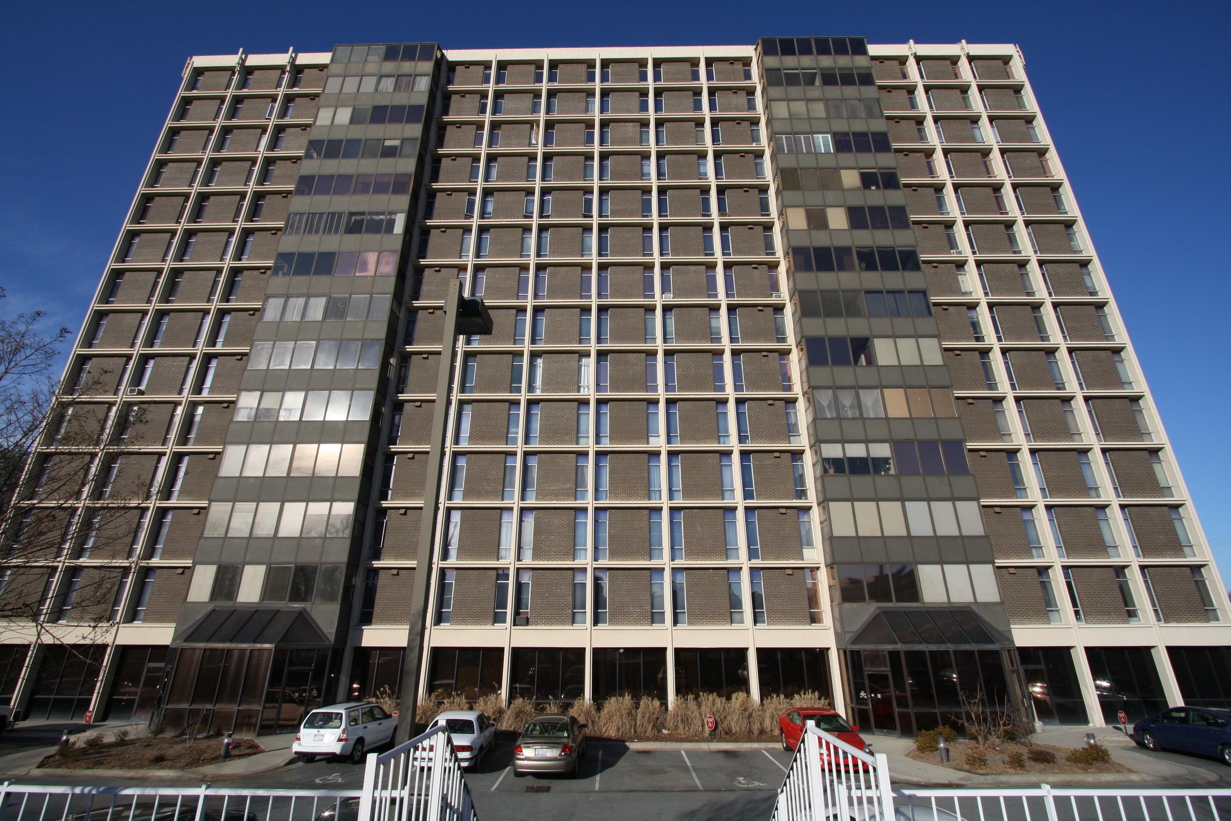 The Hampshire Condominiums - Greensboro, NC - Built in 1963 - 14 Stories - Modernism Style - Condominium Use