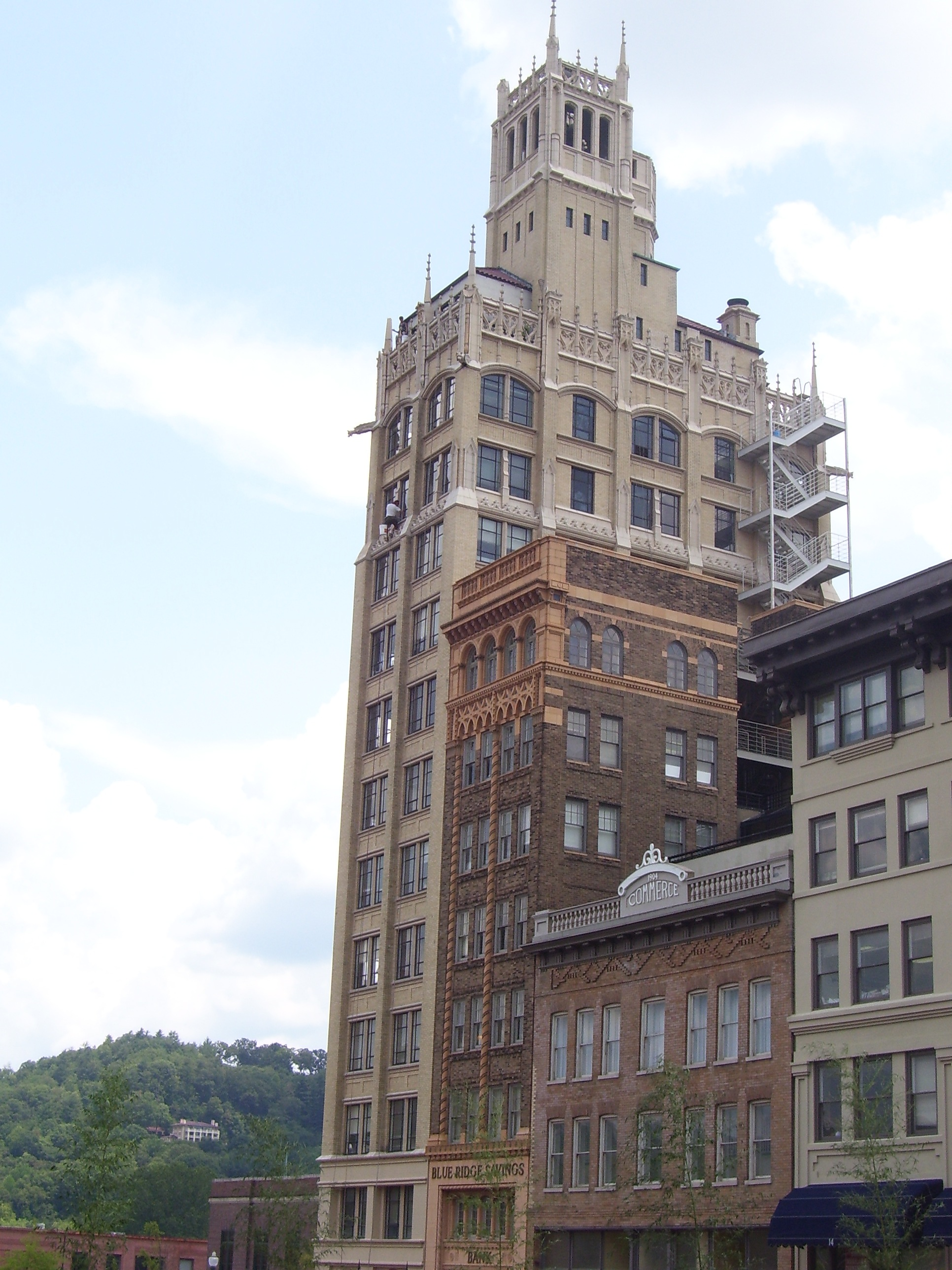 The Westall Building - Asheville, NC - Built in 1925 - 8 Stories - Spanish Colonial Revival Style - Commercial Office Use