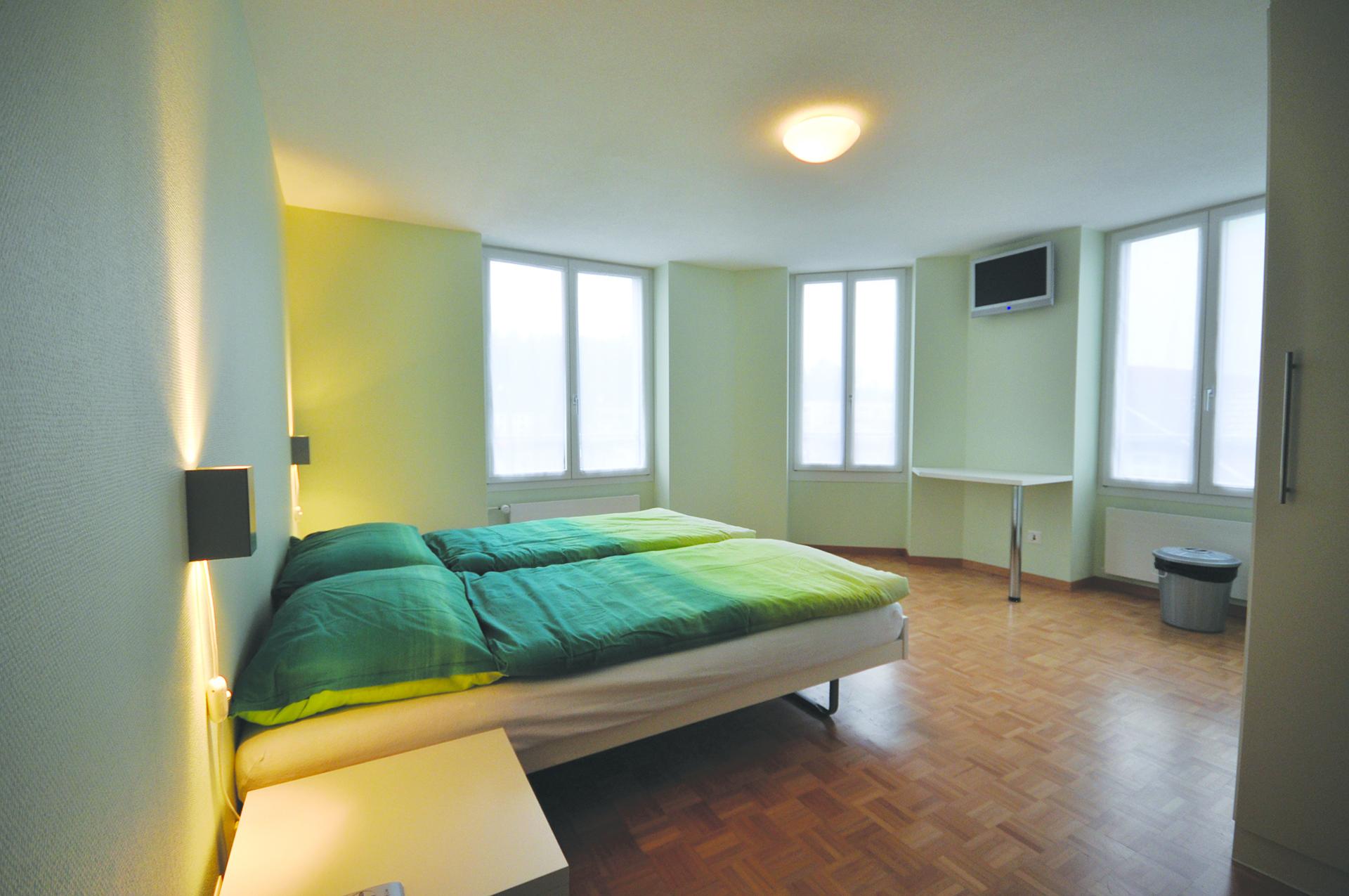 Die modern eingerichteten Doppelzimmer.