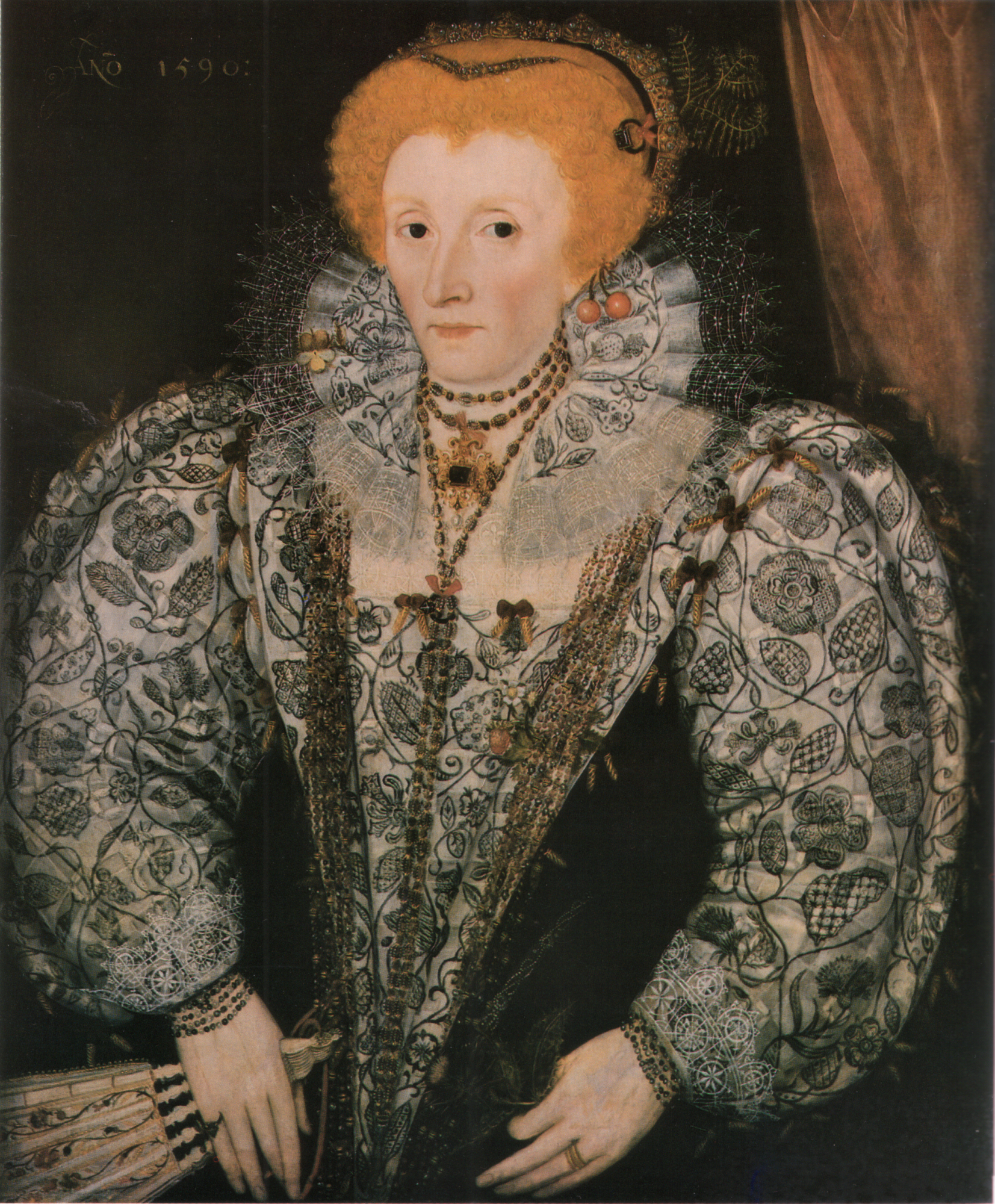 Portrait of Elizabeth I, 1590, artist unknown.