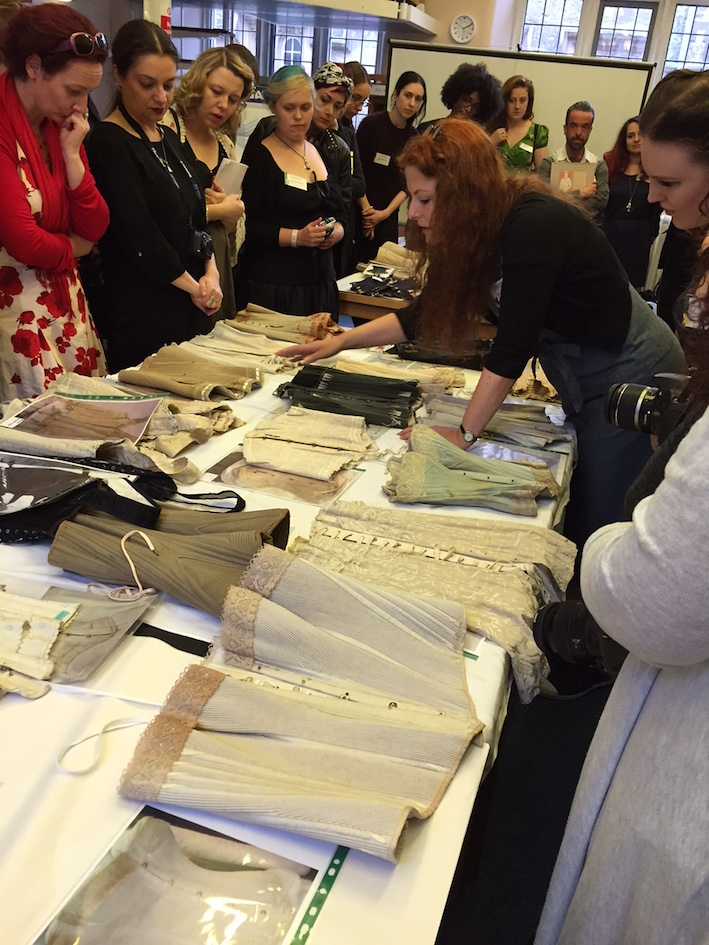 Steph Selmayr of Past Pleasures brought a fraction of her incredible antique corset collection for us to examine and learn from at ococ15. © Caroline woolin