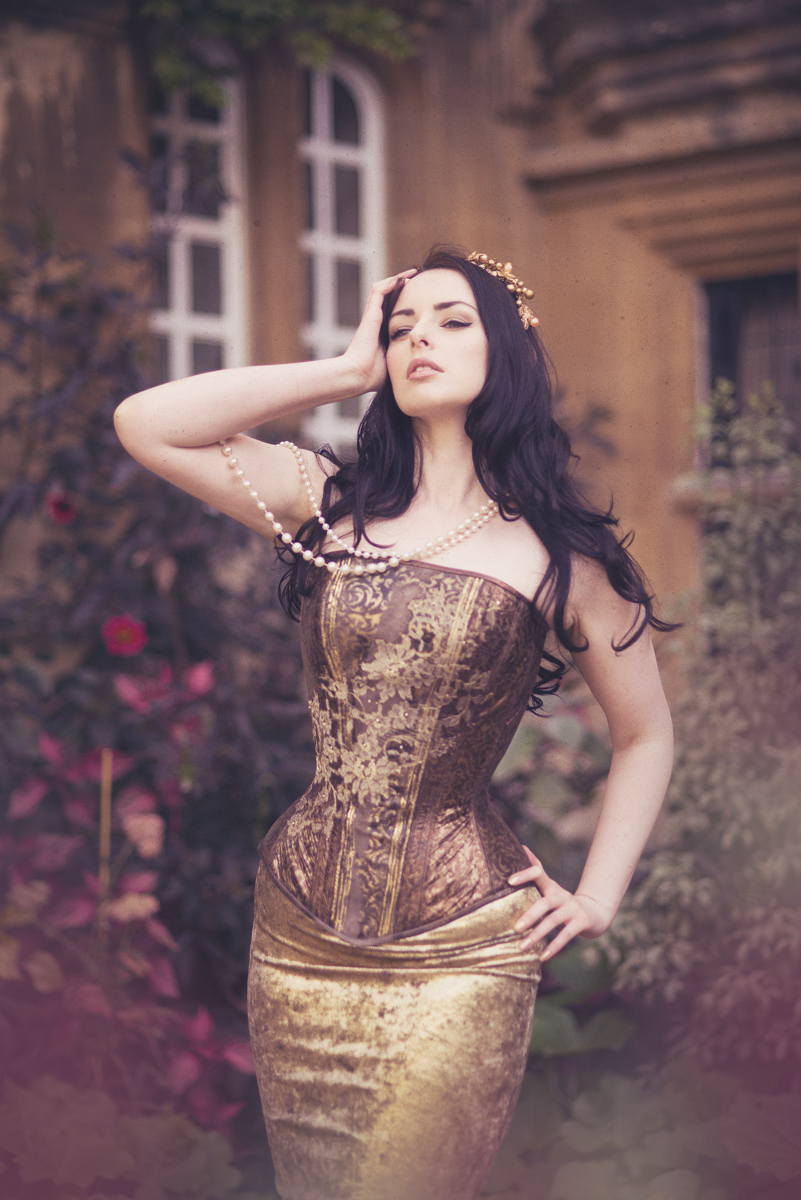 Corset by Julia Bremble, modelled by Liv Free and photographed by Scott Chalmers
