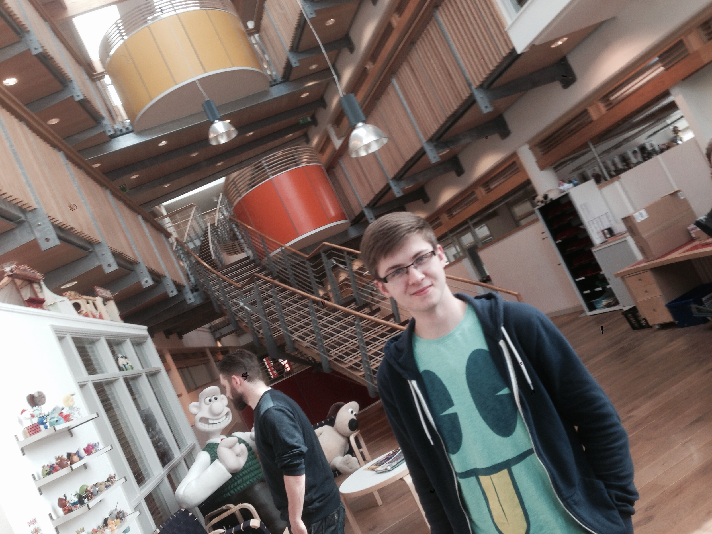 Eric in the Aardman Animations lobby
