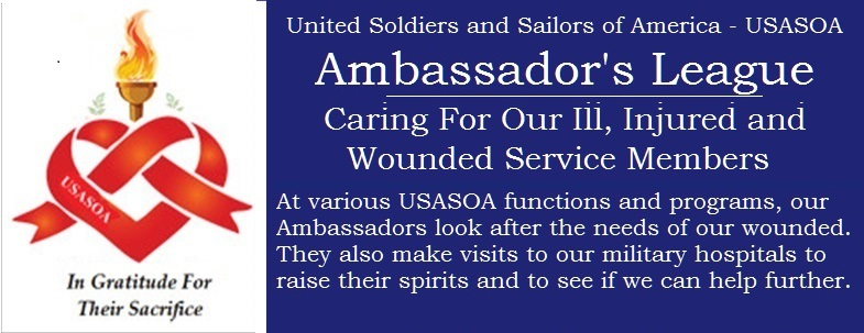 Volunteer Your Time and Energy With The USASOA Ambassador's League - Have A Direct And Meaningful Impact On The Quality Of Life For Our Nation's Heroes. Show Them You Care Enough To Brighten Their Day With A Visit While They Continue To Recovery.