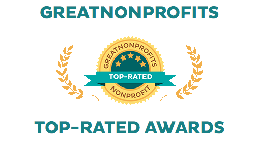 We have a five star rating from Great Nonprofits -
