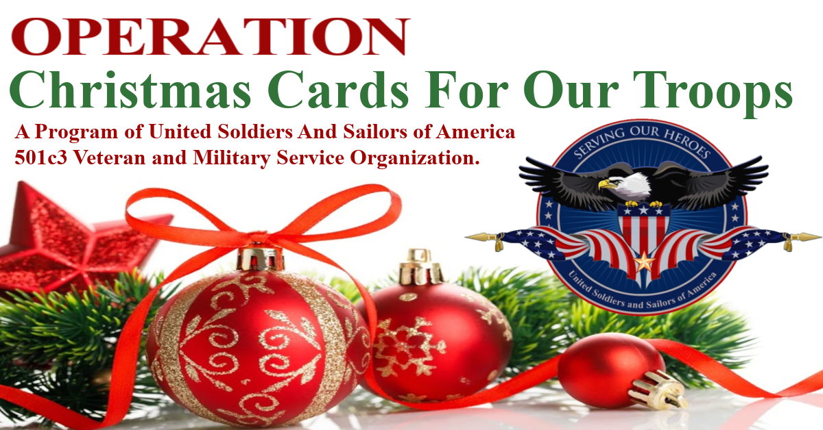 Charity Christmas Cards 2021 Usa Christmas Cards For Our Deployed Troops Usasoa