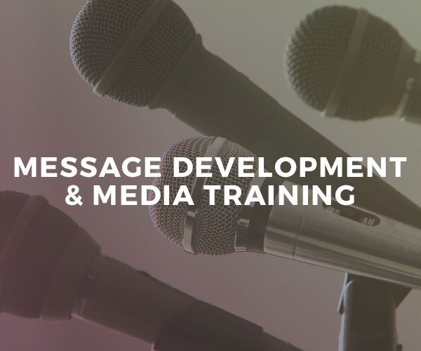 Message Development & Media Training — one-on-one coaching