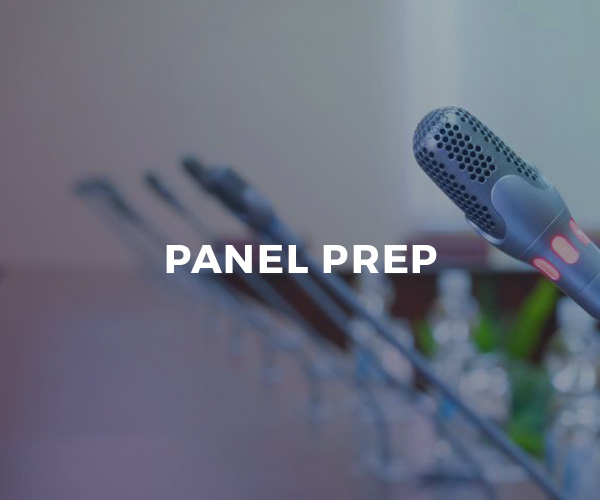 Panel Moderation Prep — one-on-one coaching