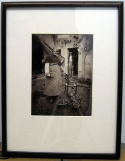 Eugène Atget (1857-1927)  Femme de Verrieres, 1922 9.5 x 7 inches 42/100, MoMA stamp at bottom right, 1978