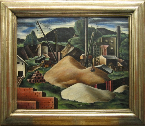 Bumpei Usui (1898-1994)  Bronx NY, 1924 oil on canvas; 20 x 24 inches