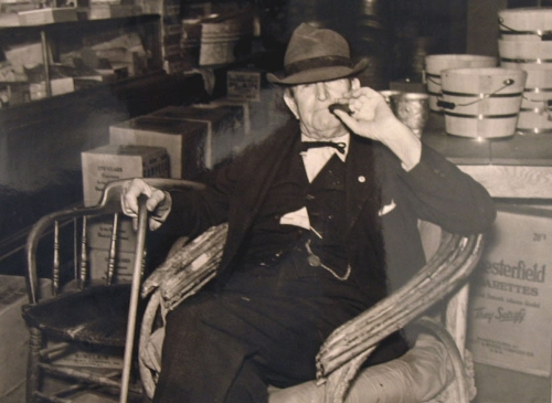 Marion Post Wolcott (American, 1910-1990)  Mr. R.B. Whitley Visiting His General Store, 1930s vintage gelatin silver print 8 1/8 x 10 inches