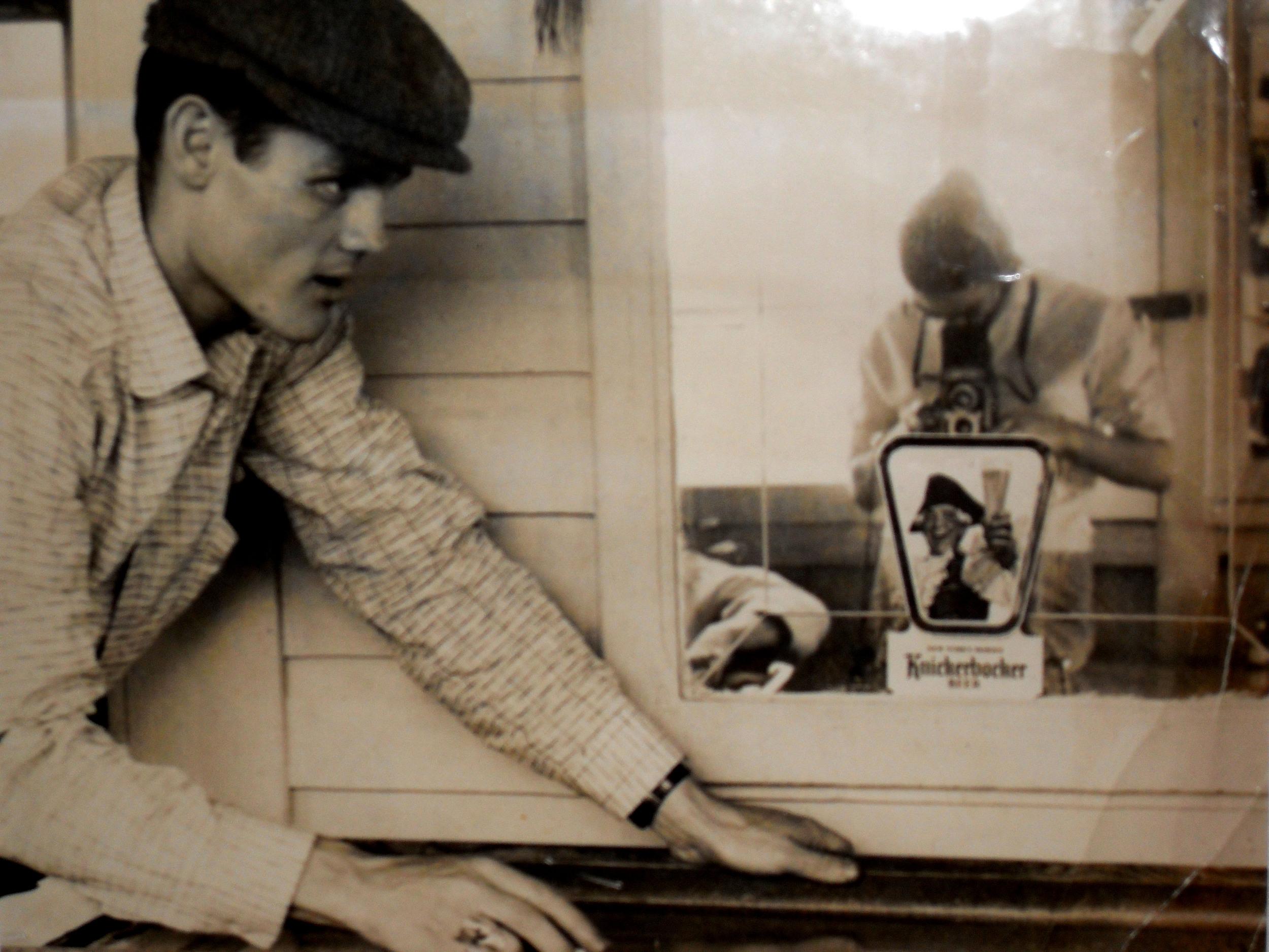 Carole Reiff,   Portrait of Chet Baker with Self-Portrait in Mirror , c.1955 silver gelatin print, unique