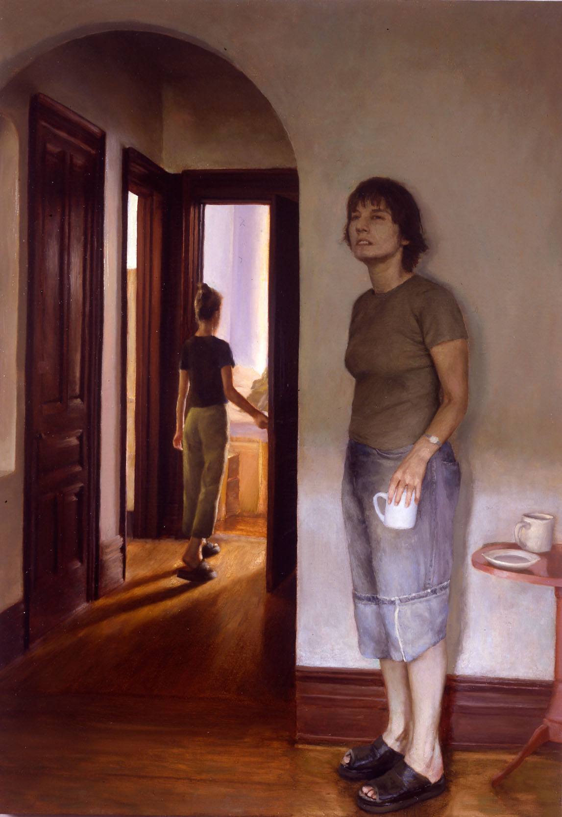 Bryan LeBoeuf   Hall Pass,  2003  oil on linen  36 x 24 inches