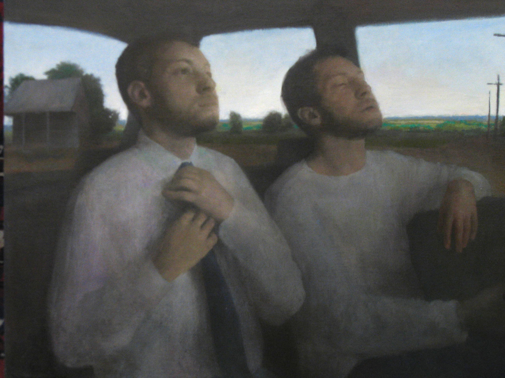 Bryan LeBoeuf   The Roads,  2003  oil on linen  19 x 25 inches