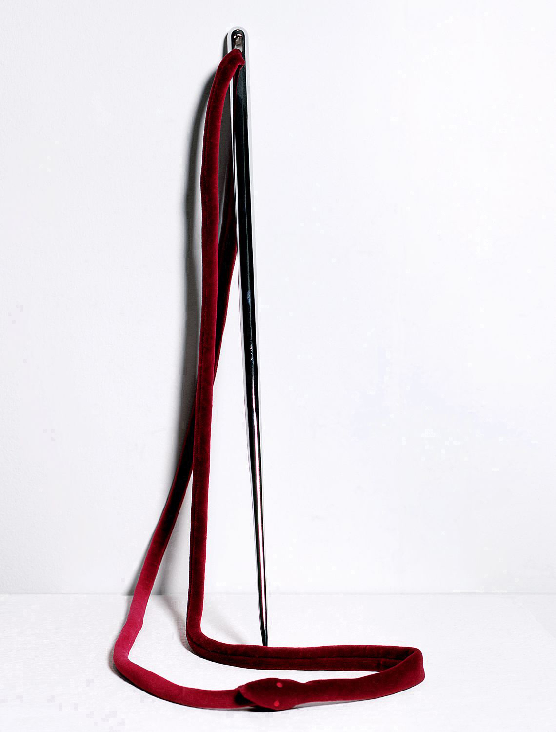 Maro Michalakakos   L'Entre Devoration   Velvet, stainless steel  36x27x28inches