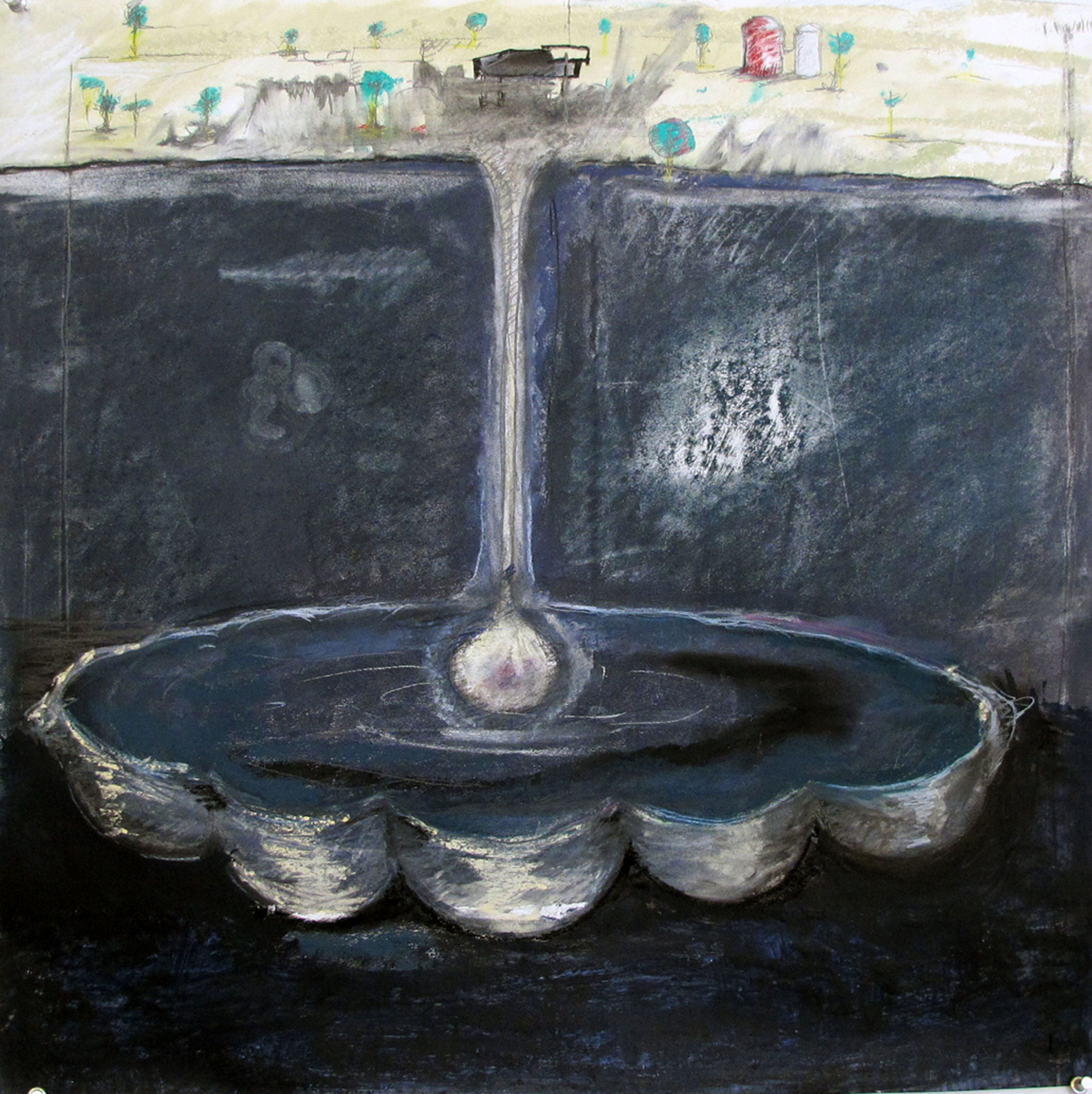 Jennifer Odem Extraction, 2011 Pastel, pencil, watercolor on paper 22 x 21 inches