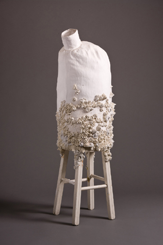 Jennifer Odem Flora Pearlinious, 2011 hydrocal, fabric, wood 42 x 14 x 14 inches