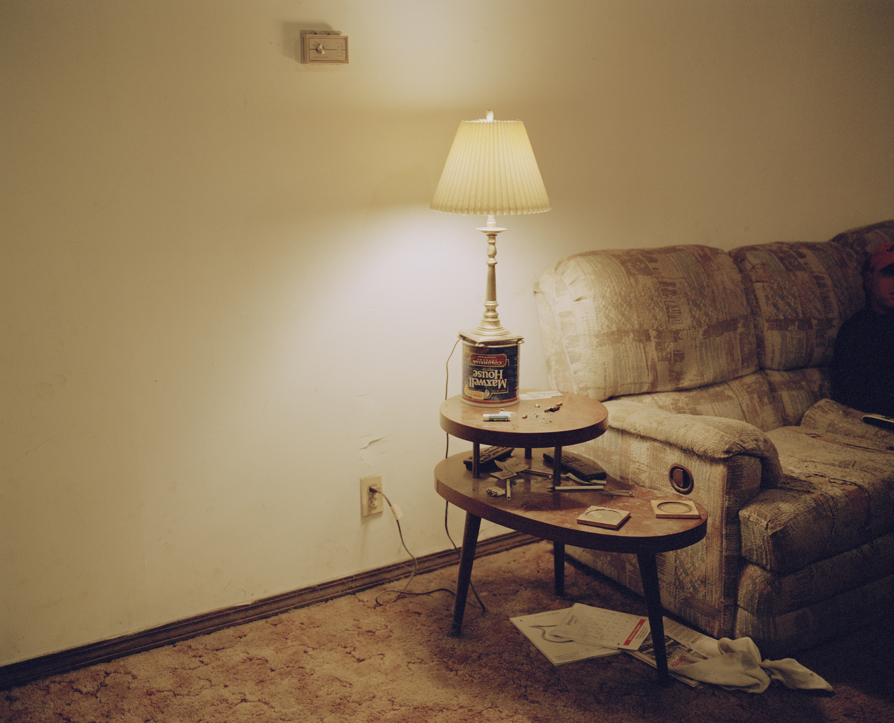 Drug Dealer's Lamp, Oswego County, NY.   , 2007    Ink jet print, edition of 5 + 2AP    9.5 x 11.75 inches